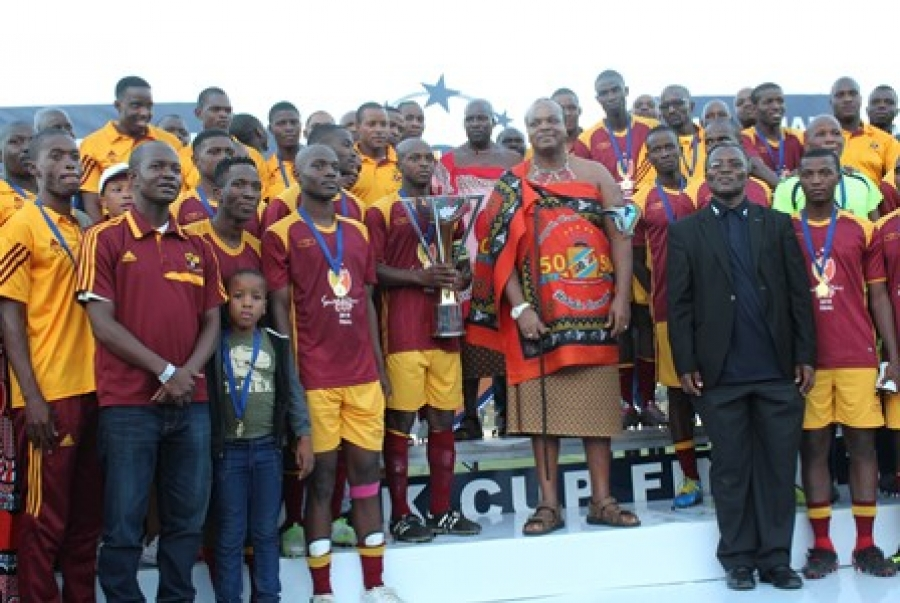 NFAS ACKNOWLEDGE THE PRESENCE OF HIS MAJESTY KING MSWATI III DURING THE SWAZI BANK- UYAYIFUNA NA FINALS